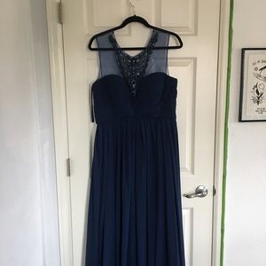 JS Collections navy formal/prom dress